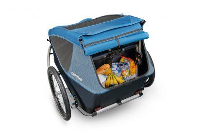 Pojemny bagażnik w przyczepce Croozer