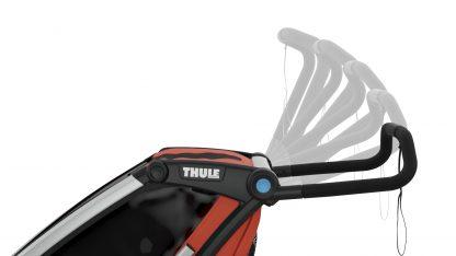 Regulowane położenie rączki w przyczepce Thule