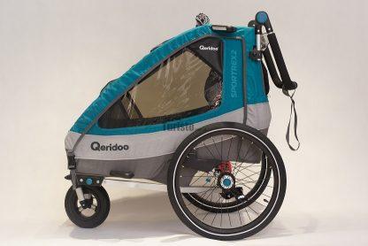 Przyczepka rowerowa Qeridoo w boku