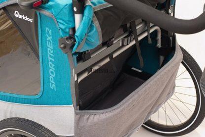 Przestrzeń na bagaż w przyczepce Qeridoo Sportrex 2