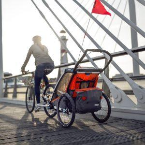 Sklep z przyczepkami rowerowymi,nosidłami turystycznymi i innym sprzętem do aktywnego wypoczynku  dziećmi