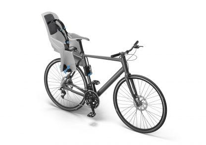 Stylowy fotelik rowerowy