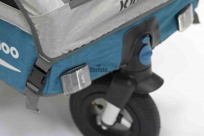 Zdejmowane koło spacerowe w przyczepce rowerowej Qeridoo Kidgoo 1 2020