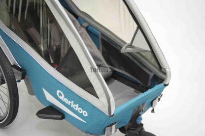 Doskonała wentylacja w przyczepce rowerowej Qeridoo Kidgoo 1