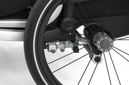 Amortyzacja w przyczepce rowerowej