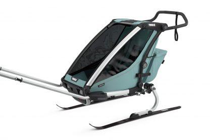 Wózek do jazdy na nartach biegowych