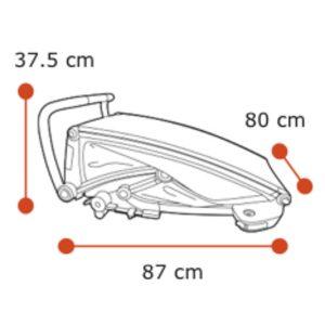 Wymiary łożonego wózka Thule Chariot Cross 2