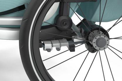 Amortyzacja w przyczepce rowerowej Thule