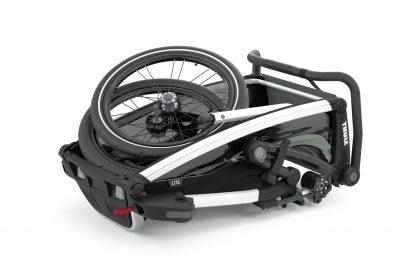 Złożona do transportu przyczepka rowerowa Thule